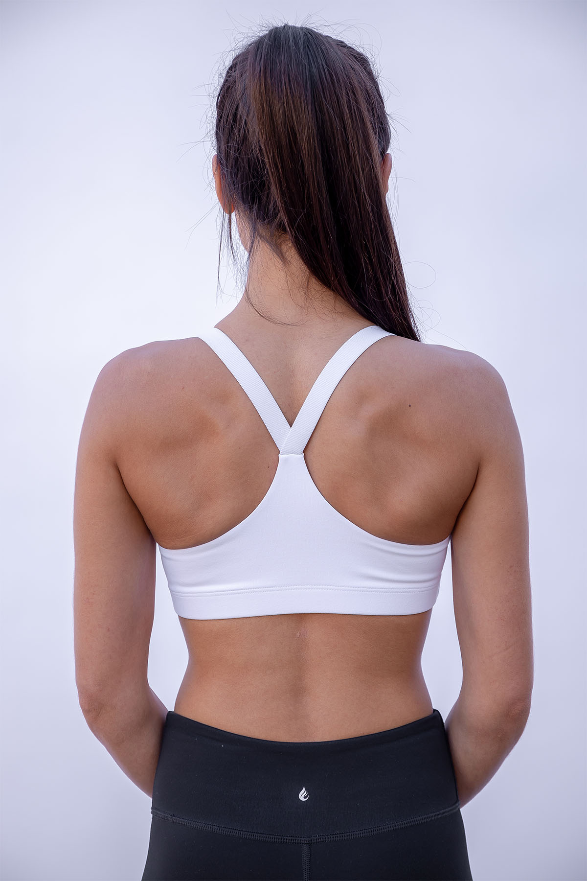 55a0129786a MAKE IT A HABIT Valtellina V-Back Sports Bra – White – Certo Apparel ...