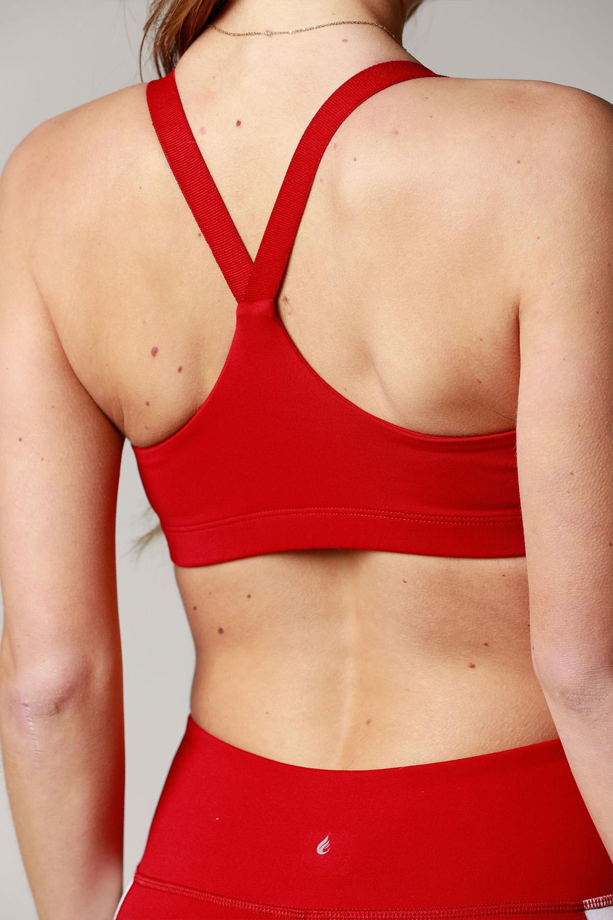 5ca0dd3b6a7d3 Valtellina V-Back Sports Bra – Red – Certo Apparel – Leggings